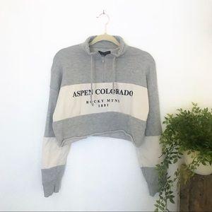 L.A. hearts colorado crop sweater